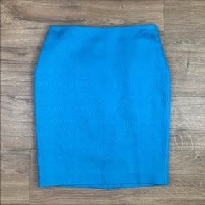 Talbots Blue Textured Pencil Skirt size 8 Petite
